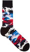 Happy Socks Camouflage Cotton Blend Socks