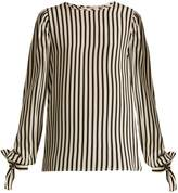 MSGM Silk striped top