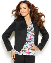 Thalia Sodi Cropped Scuba Jacket