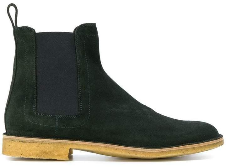 Bottega Veneta dark moss suede voortrekking boot