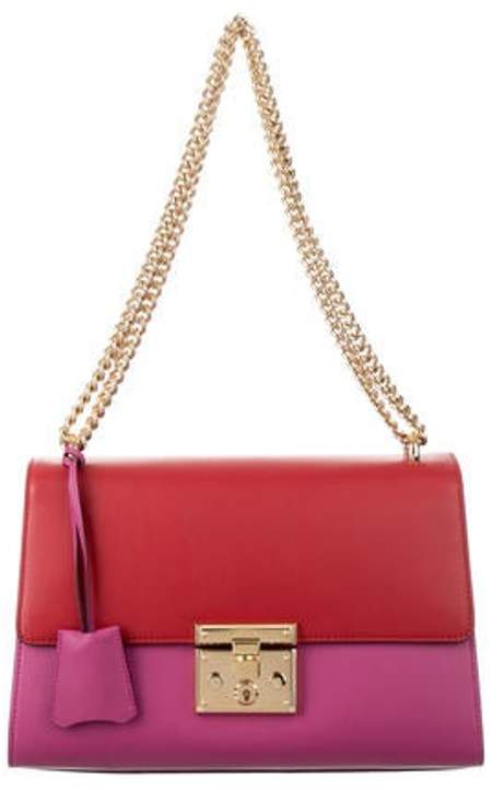 52d5631fb8 Medium Leather Padlock Bag Red Medium Leather Padlock Bag