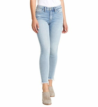 Silver Jeans Co. Women's Most Wanted Mid Rise Skinny Fit Jeans