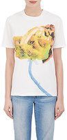 Acne Studios Women's Rose-Print Cotton Jersey T-Shirt-WHITE