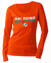 5th & Ocean Women's Miami Dolphins Huddle LE Long Sleeve T-Shirt