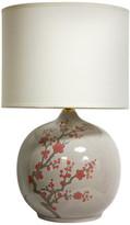 "Oriental Furniture 20"" Cherry Blossom Vase Lamp"