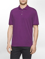Calvin Klein Classic Fit Liquid Cotton Striped Polo Shirt