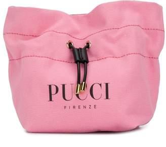 Emilio Pucci Pink Logo Print Cotton-Canvas Beauty Case