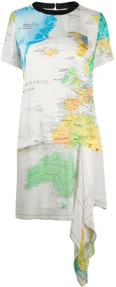 Sacai World Map Dress