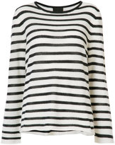 Nili Lotan striped knitted sweater - women - Cashmere - XS