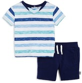 Splendid Infant Boys' Marled Stripe Tee & Shorts Set - Sizes 3-24 Months