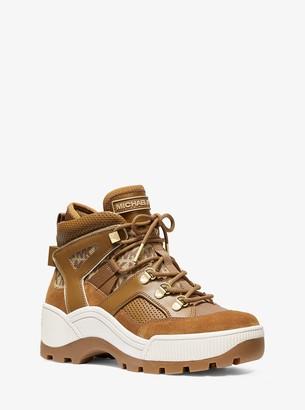 MICHAEL Michael Kors Brooke Leather and Logo Boot