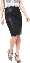 Miss Selfridge Petite PU Mini Skirt, Black