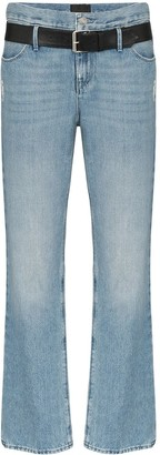 RtA Dexter belted straight leg jeans
