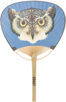 Gucci owl printed hand fan - women - Bamboo/Paper - One Size