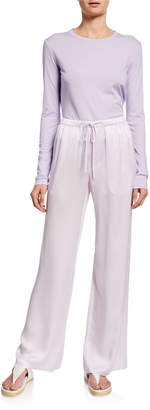 Vince Drawstring Satin PJ Pants