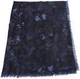 Valentino Blue Cashmere And Silk Shawl