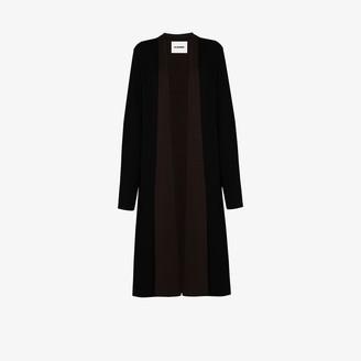 Jil Sander Panelled Long-Line Cardigan
