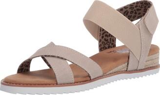 Skechers Women's Desert Kiss-Secret Picnic Flat Sandal