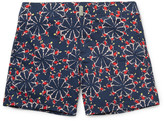 Vilebrequin Merise Mid-length Printed Swim Shorts - Navy