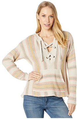 Rip Curl Surf Side Poncho (Mustard) Women's Clothing