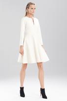 Josie Natori Double Knit Jersey Long Sleeve Dress