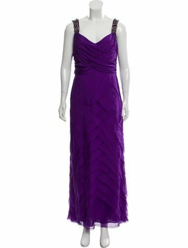 Matthew Williamson Embellished Evening Gown Purple