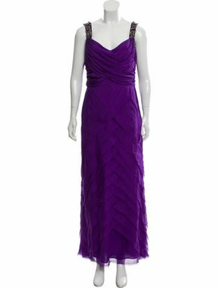 Matthew Williamson Embellished Evening Gown Purple