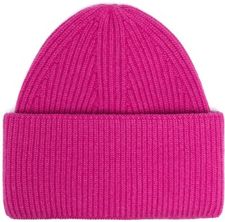 Laneus Cashmere Ribbed Beanie Hat