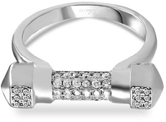 Opes Robur White Gold Pave Cuff Ring