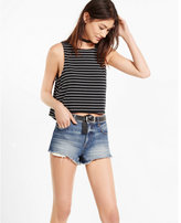 Express one eleven striped split back tank