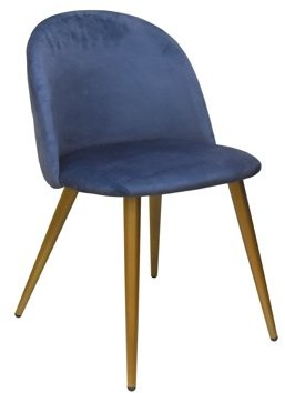 Urban Shop Navy Velvet Round Back Chair