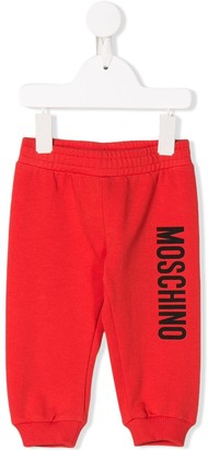 Moschino Kids logo print sweatpants