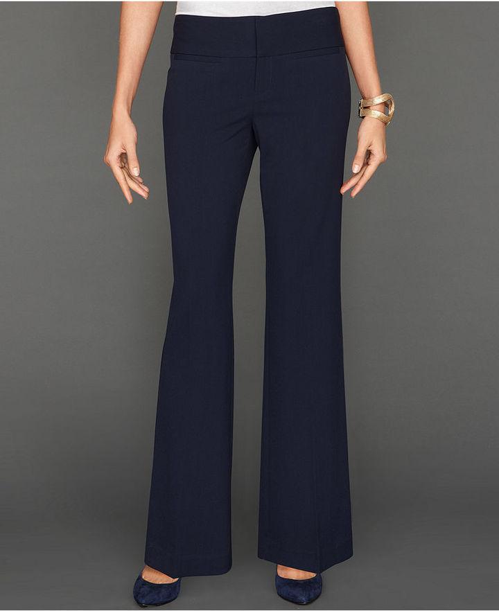 INC International Concepts Petite Pants, Wide-Waistband Trousers