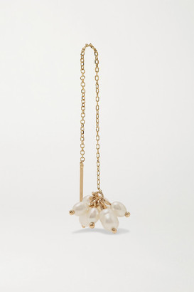 WWAKE + Net Sustain Cloudburst Gold Pearl Earring - one size
