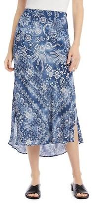 Karen Kane Paisley Border-Print Bias Cut Skirt