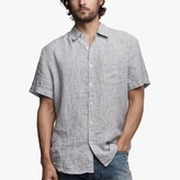 James Perse Needle Stripe Linen Shirt
