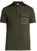 Valentino Bi-colour flapped-pocket polo shirt