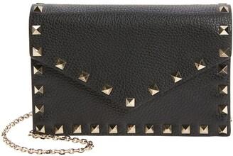 Valentino Mini Rockstud Leather Envelope Crossbody