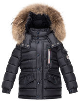 Moncler Boys' Lilian Hooded Puffer Coat, Navy, Size 8-14