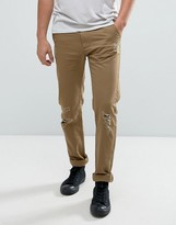 D-Struct Distressed Cotton Slim Fit Chino