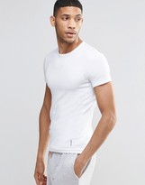 HUGO BOSS BOSS By Muscle Fit Rib T-Shirt In White