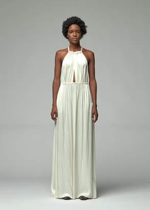 Raquel Allegra Crepe Back Satin Keyhole Dress