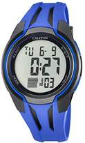 Calypso Unisex Digital Watch with LCD Dial Digital Display and Blue Plastic Strap K5703/3