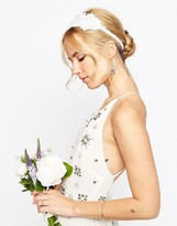 Asos WEDDING Beaded Flower Headband