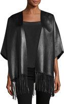 Valentino Cappotto Leather Caban Coat, Black