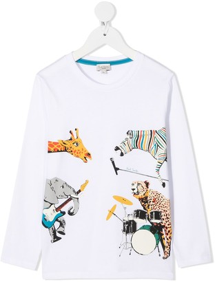 Paul Smith animals-print long-sleeved T-shirt