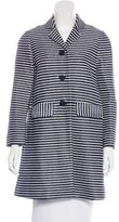 Tory Burch Striped Knee-Length Coat