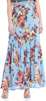C & V Chelsea & Violet Printed Button Down Maxi Skirt