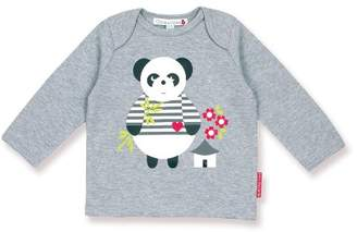 Olive & Moss Perry The Panda T-Shirt - Grey - pan1-top - 0-6 Months