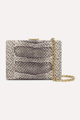 Anya Hindmarch Mini Snake-effect Leather Shoulder Bag - Beige